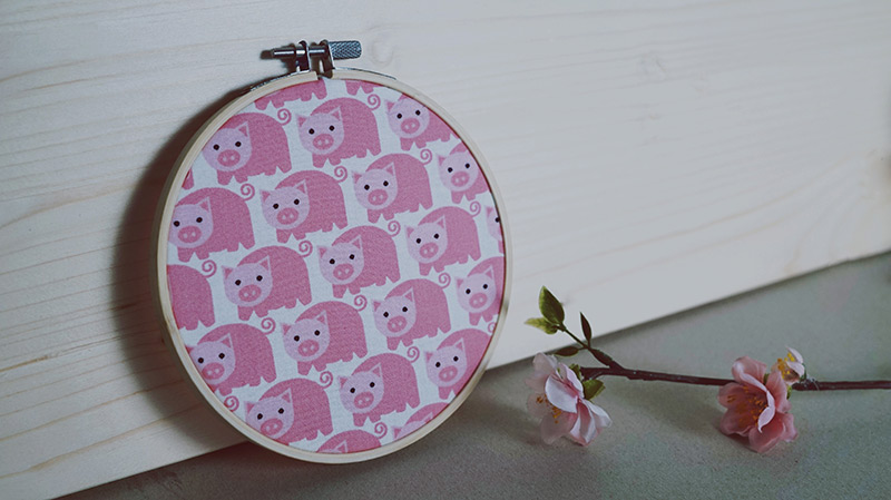 KuneCoco • DIY • 3 Ideen für Stickrahmen • Schönen Stoff einspannen