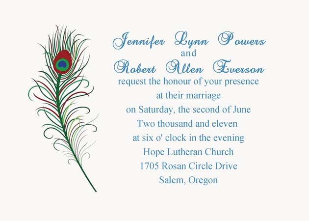 Inexpensive Wedding Invitation Ideas: Cheap Peacock Wedding Invitations