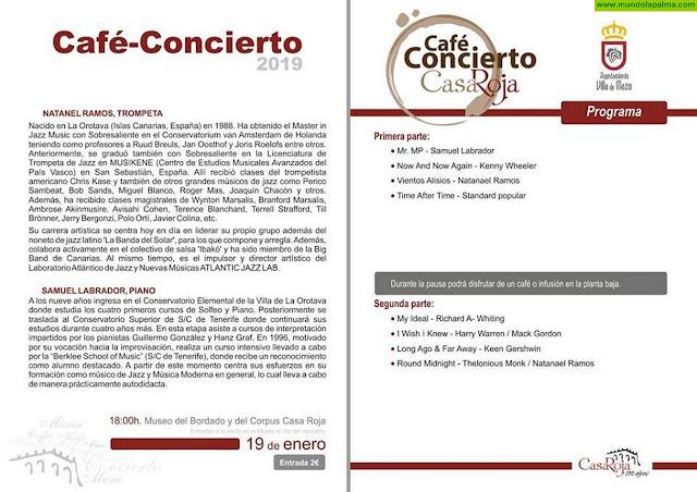 CAFÉ CONCIERTO en el Museo Casa Roja