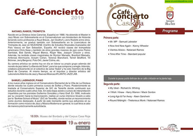 Nataniel Ramos y Samuel Labrador abren el ciclo 'Café Concierto' de 2019 de Villa de Mazo
