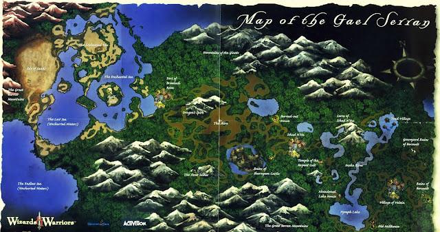 Wizards & Warriors - World Map of the Gael Serran