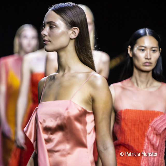 Satin dress by David Laport SS19