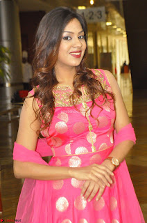 Sindhu Shivarama in Pink Ethnic Anarkali Dress 07.JPG