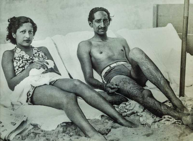Yeshwant Rao Holkar II, Maharaja of Indore, with his wife Maharani Sanyogita Bai Holkar - 1943