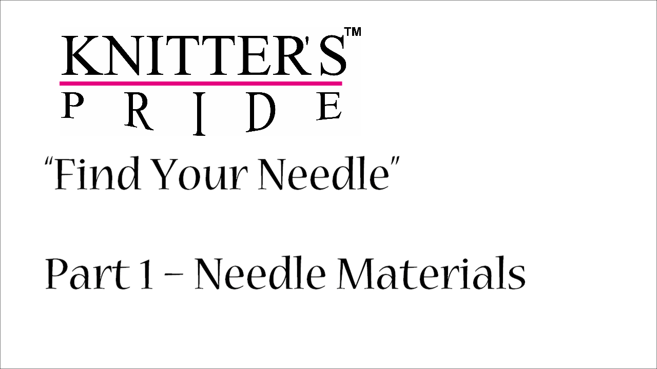 Find Your Needle Video Series with Staci Perry of Very Pink Knits