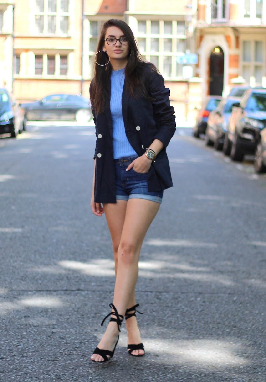 summer style shorts blazer