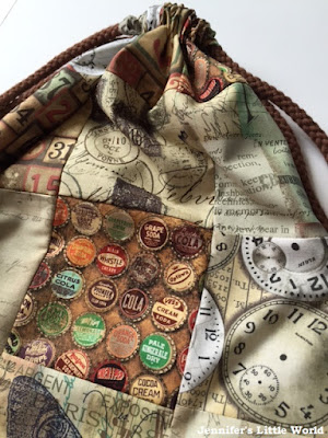Simple sewing project - drawstring rucksack