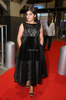 Niveda Thomas Black Sleeveless Cute Dress at 64th Jio Filmfare Awards South 2017 ~  Exclusive 112.JPG