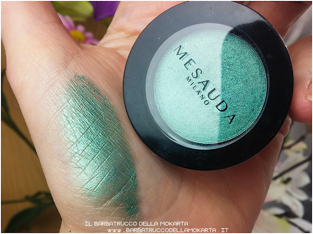 Vibrant eyeshadow swatches  recensione mesauda ombretto cotto perlato green verde