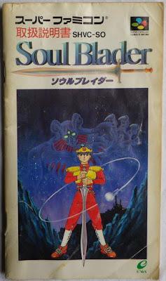 Soul Blader - Manual portada