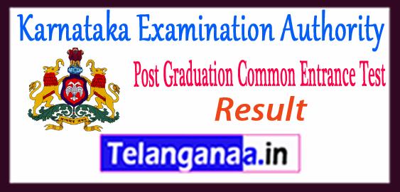 Karnataka PGCET Result 2018 Counselling