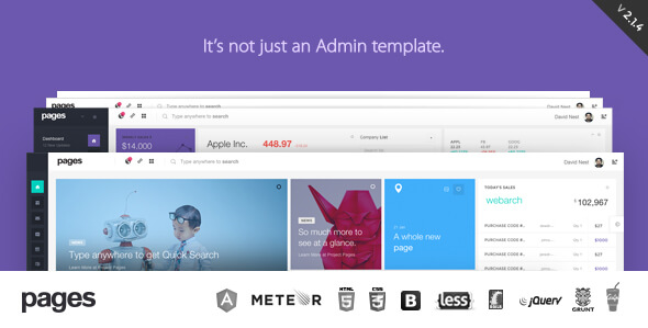 Free Download Pages Admin Dashboard Template & Web App