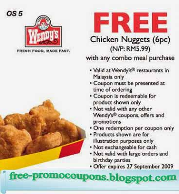 free wendys burger coupon