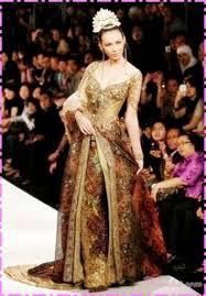 Model Kebaya Pernikahan Modern Gold