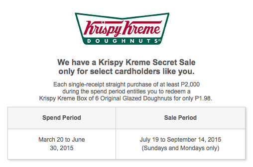 Citi Credit Card Pre Qualify >> The Food Alphabet and More: Krispy Kreme Secret Sale for only P1.98 with your Citi Card - Exclusive!