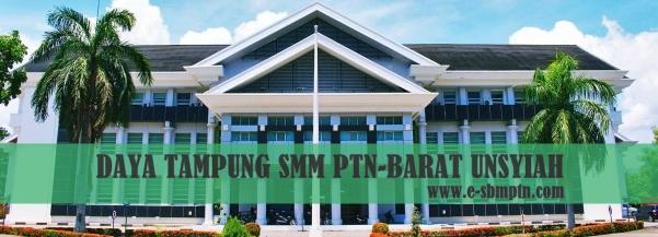 Daya Tampung SMM Perguruan Tinggi Negeri Unsyiah Prodi Saintek  DAYA TAMPUNG SMM PTN-BARAT UNSYIAH 2018/2019