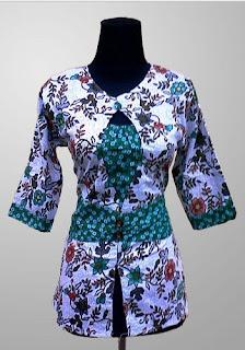 Baju Batik Wanita Kantor Modern