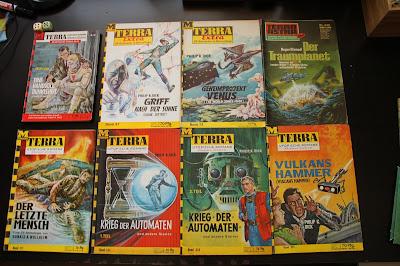 Science Fiction Heftromane in verschiedenen Reihen des Moewig Verlags