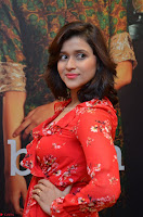 Mannara Chopra in deep neck Short red sleeveless dress Cute Beauty ~  Exclusive Celebrities Galleries 022.JPG