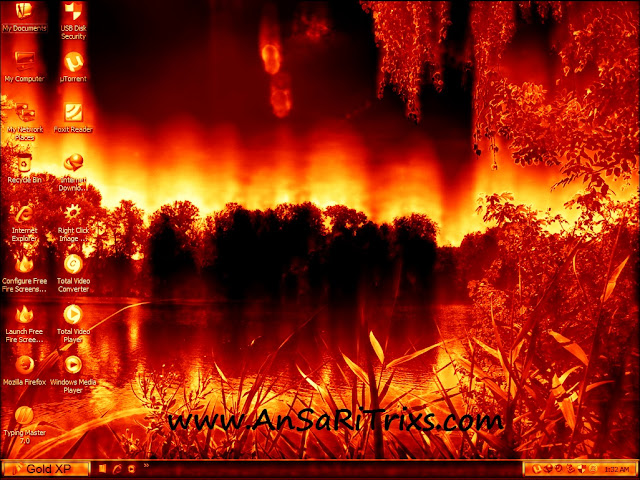 Amazing Fire Screensaver Free Download latest version