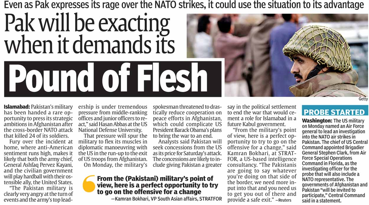Jottings: From Today's Papers - 30 Nov 2011