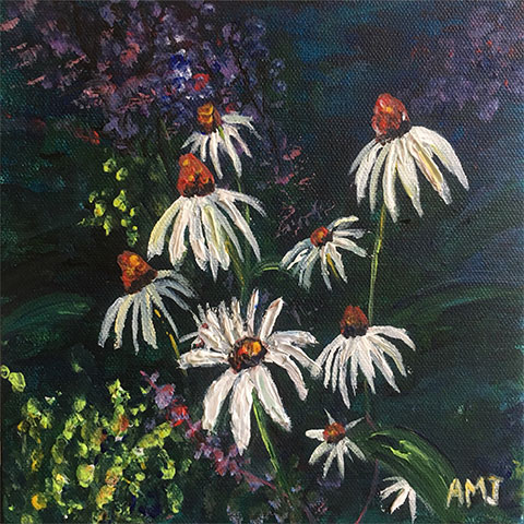 The daisies - Original painting