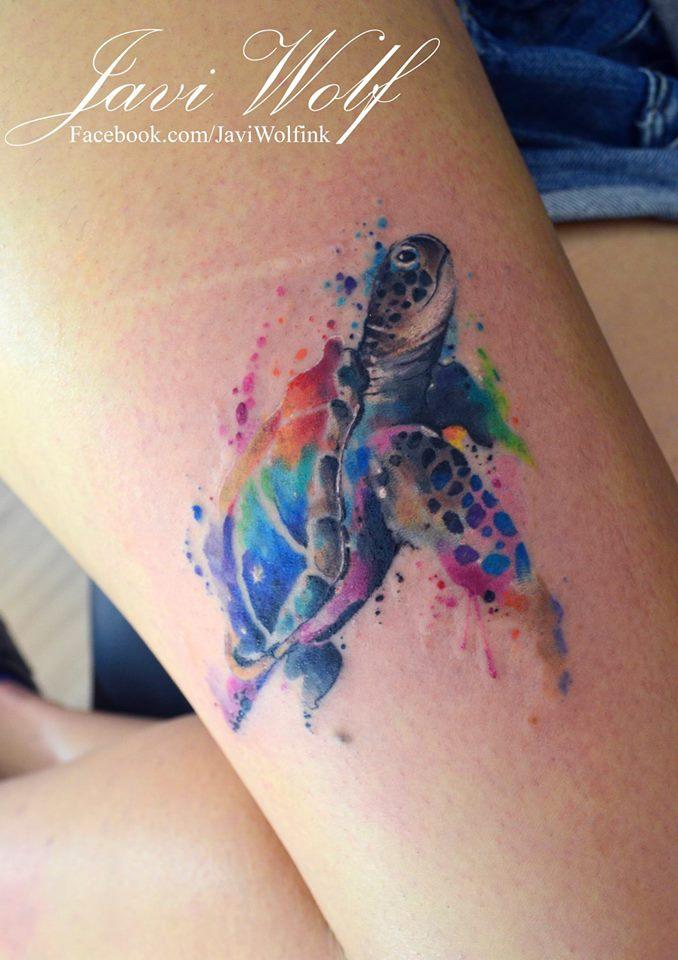 Javi Wolf mytattooland: watercolor tattoosjavi wolf