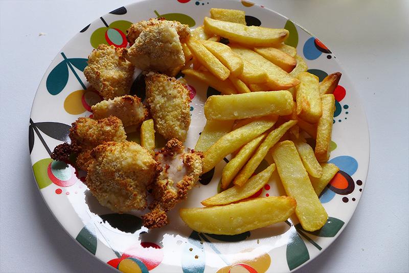 nuggets de poulet maison et frites