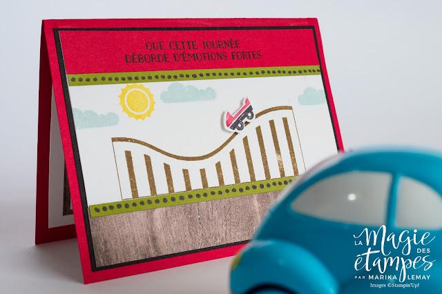 Carte d'anniversaire Stampin' Up! conçue avec avec le lot vie trépidante