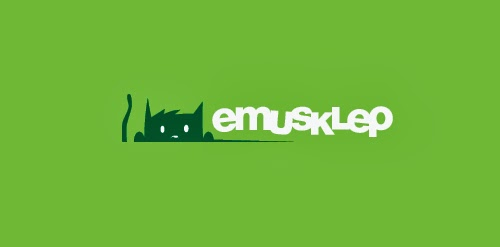 Emusklep Flat Logo Design
