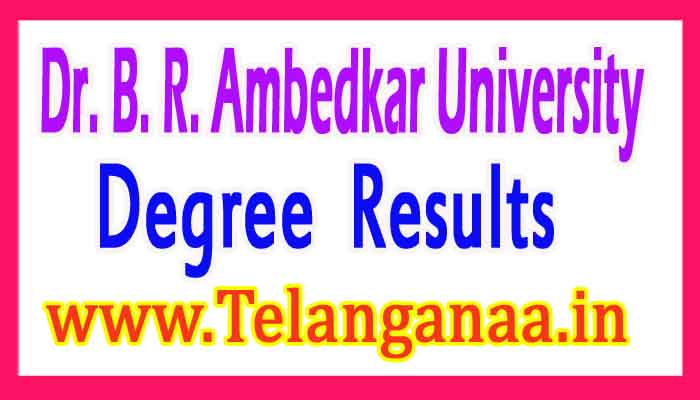 Dr.BRAU Degree 3rd Sem Results 2017