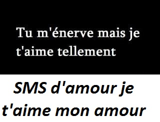 Sms Damour Je Taime Mon Amour