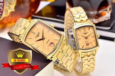Đồng hồ đeo tay cặp đôi dây inox Longines 950D2
