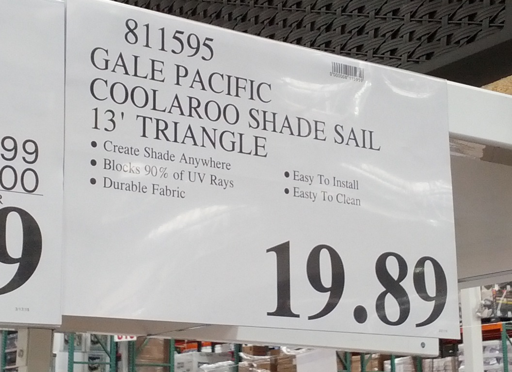 Gale Pacific Coolaroo Shade Sail Keeps You Cool And Provides
