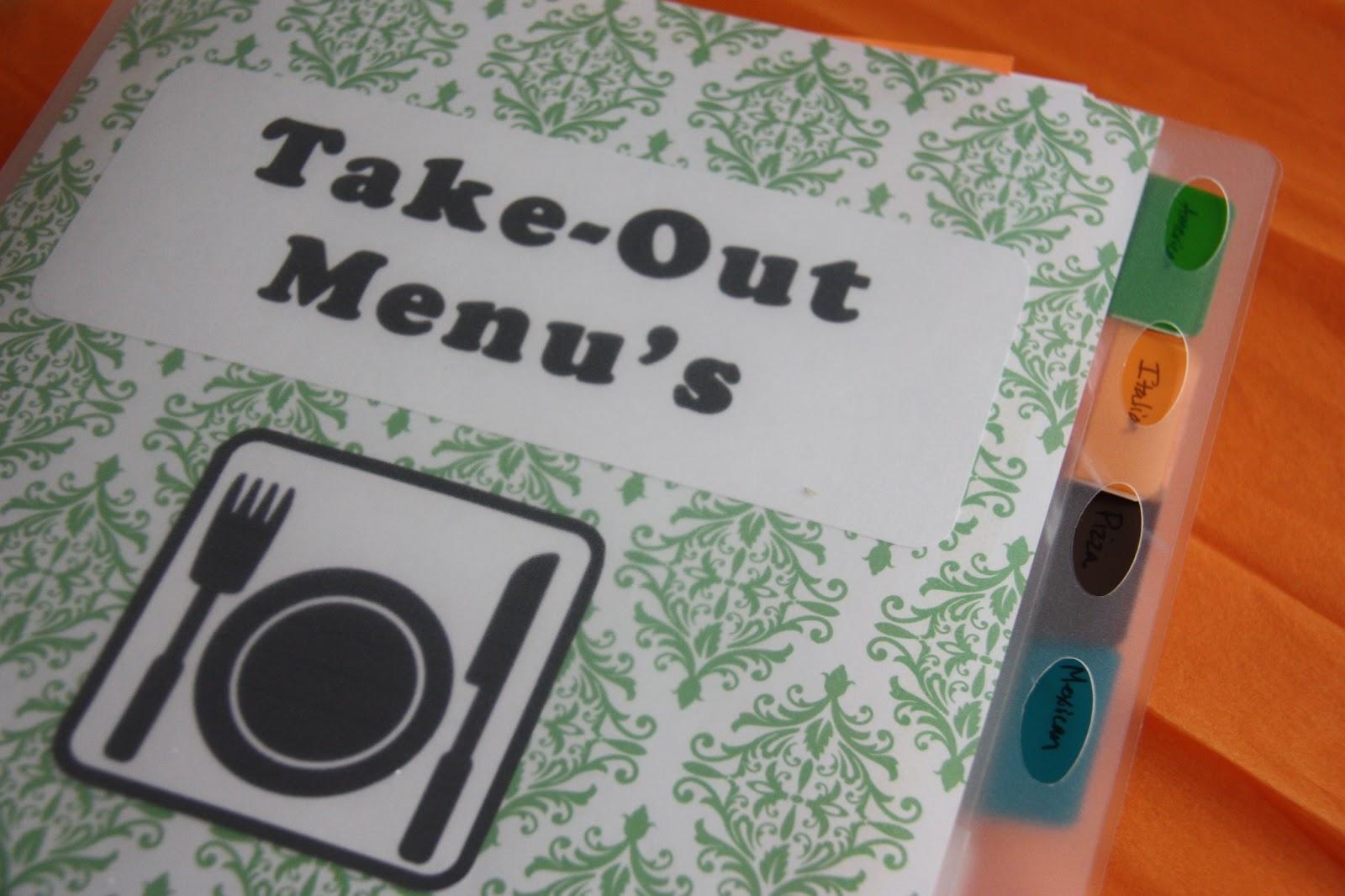 Take Out Menu Organization - The Lovebugs Blog