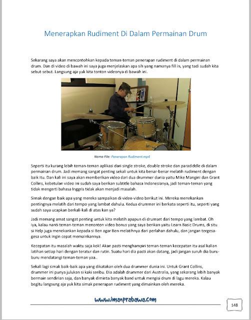 Penerapan Rudiment Belajar Drum Iman Prabawa