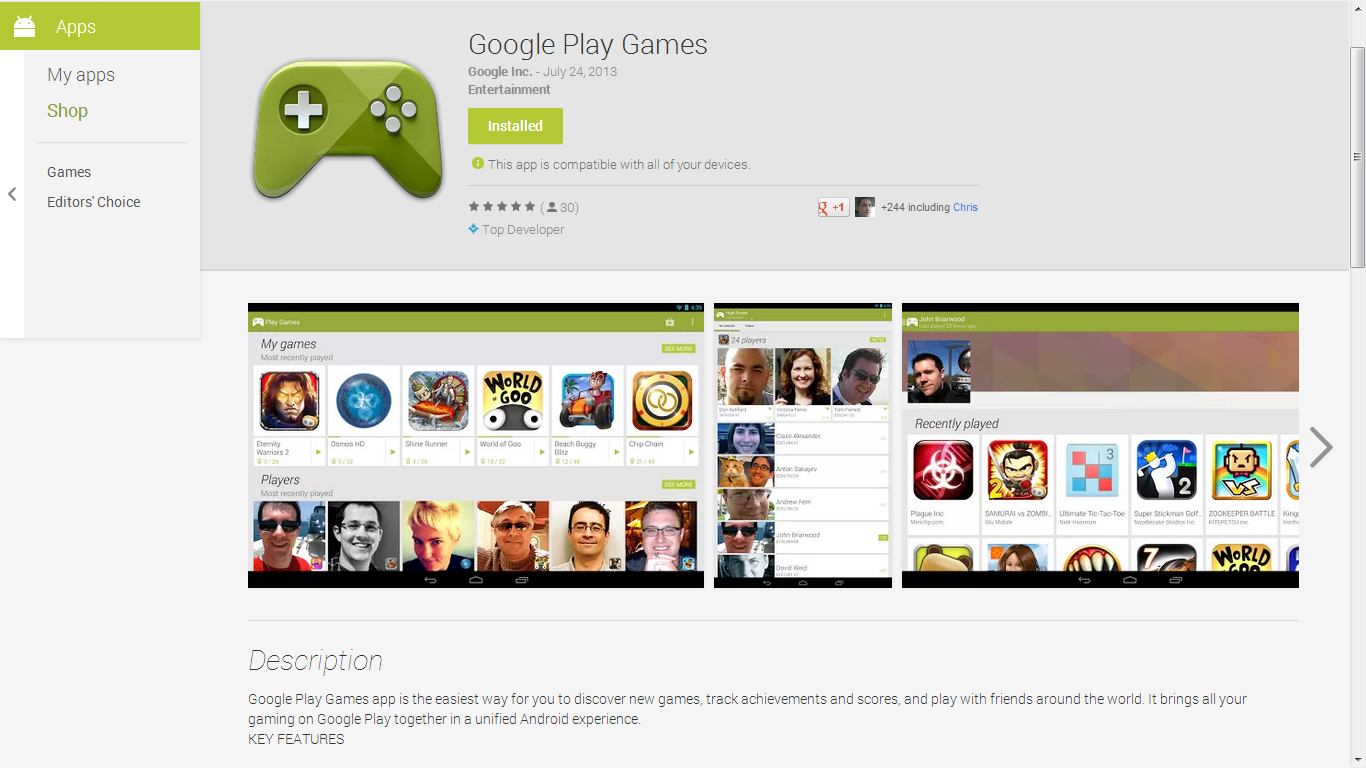 Google Play Games Is Now In The Play Store