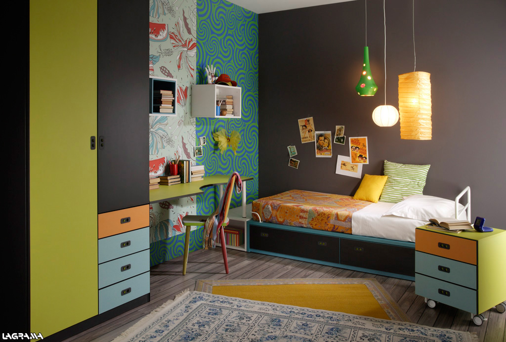 Habitaciones juveniles para adolescentes y jovenes - Paredes de habitaciones juveniles ...