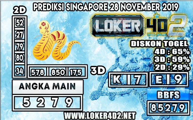 PREDIKSI TOGEL SINGAPORE LOKER4D 2 28 NOVEMBER 2019