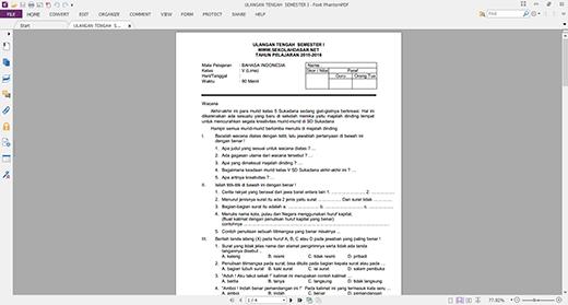 Soal UTS SD Kelas 5 Semester I (Semua Mata Pelajaran)