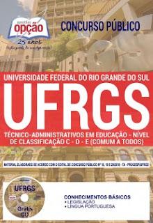 Apostila UFRGS Técnico Administrativos em Educação 2018