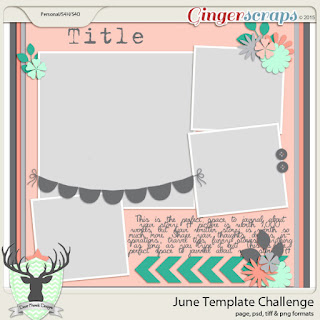 June 2015 Template Challenge #1 Dear Friends Designs