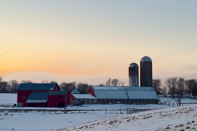 Small Farm in Winter