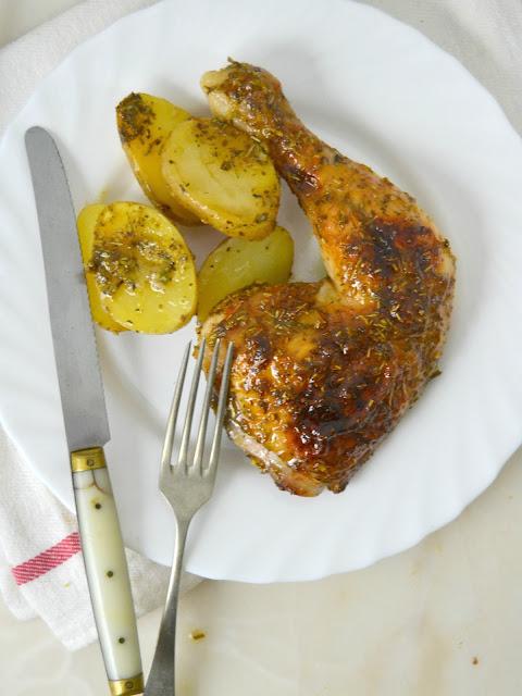 Pollo al horno con miel y mostaza ¡Una receta fácil y deliciosa!