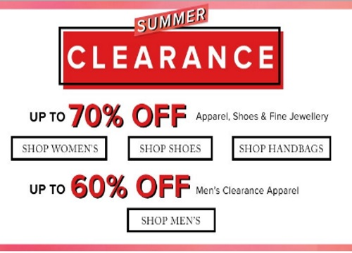 Hudson's Bay Summer Clearance Sale