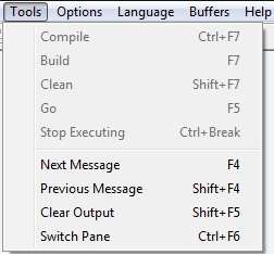AutoIt Tools menu options without customized SciTE package