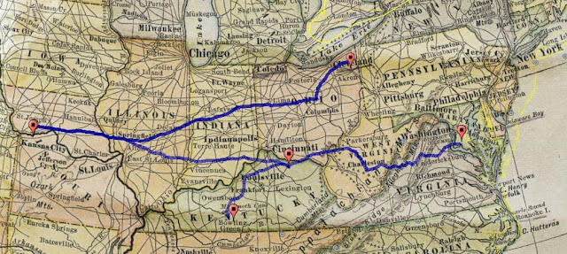 Allen Family Migration Route - Desperately Seeking Surnames
