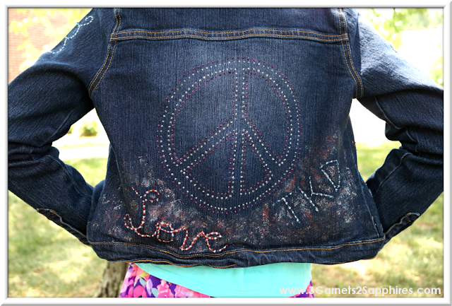 "DIY Personalized Denim Jacket ""Peace, Love, TKD""  