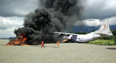 Tergelincir, Pesawat Matoa Air Terbakar di Sentani