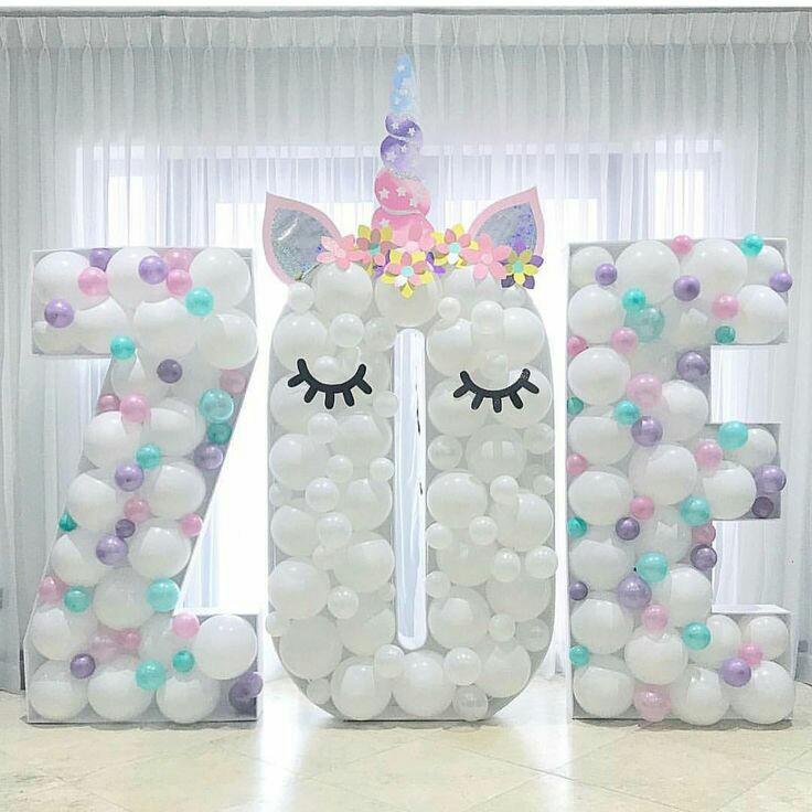 Mi Fiesta Creativa: Ideas con globos para una fiesta de unicornio